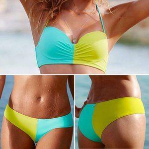 Victoria's Secret Swim Colorblock Bikini Set NWT